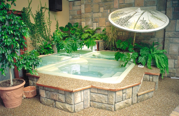 clean indoor spa