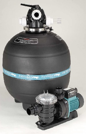 High rate sand filter pump