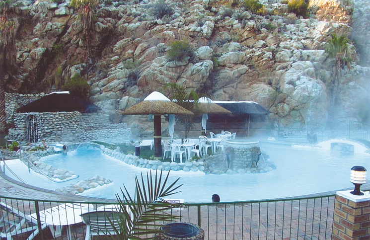 Natural hot water spa pool s