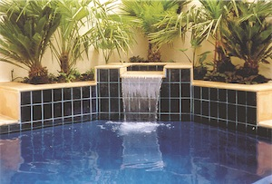 Pool Mega blue finish