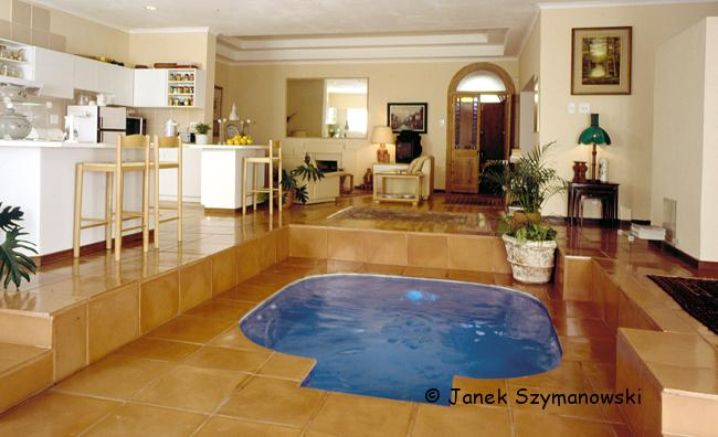 Pool in a kitchen