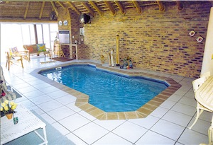Pool in covered patio