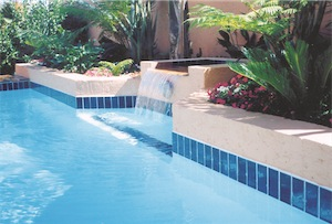 Swimming Pool sky blue finish
