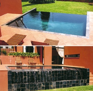 Rimflow water pool