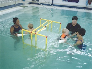 children learn to swim