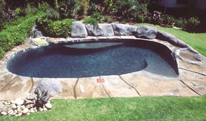 Walk in beach pool rockery - Make Landscaping Around Your Pool a Lifestyle Experience