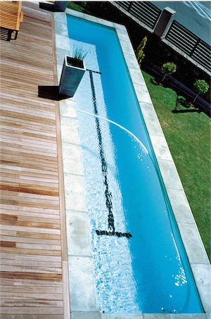 Lap pool with deck