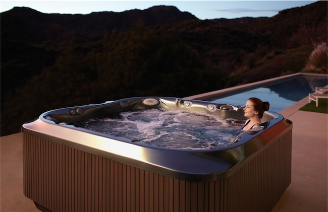 Jacuzzi hot tub hot water spa sunset