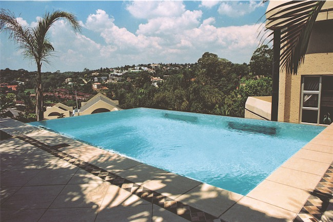 Swimming pool over suburbs 01 S - Swimming Pools With Strong Views