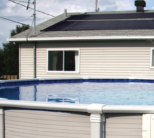 Solar Heater On Roof - Cool Pool Warm up for Winter - Solar Panels
