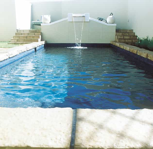 You might want faux granite blocks for your pool surround